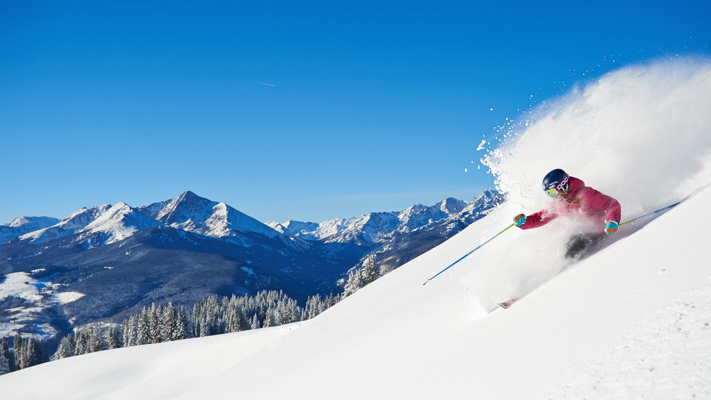 Vail Ski Resort showing snow skiing, landscape views and snow