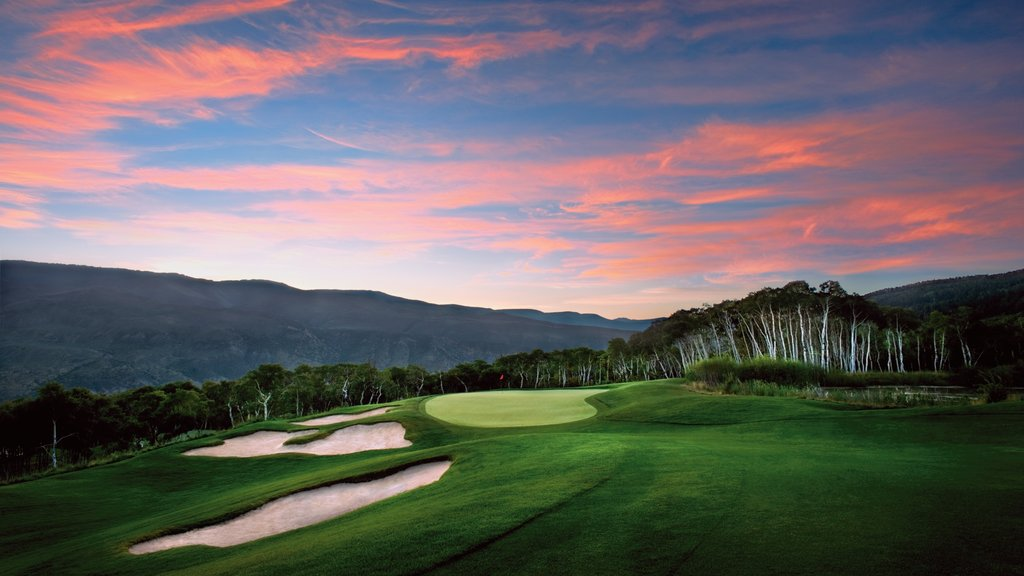 Beaver Creek featuring a sunset and golf