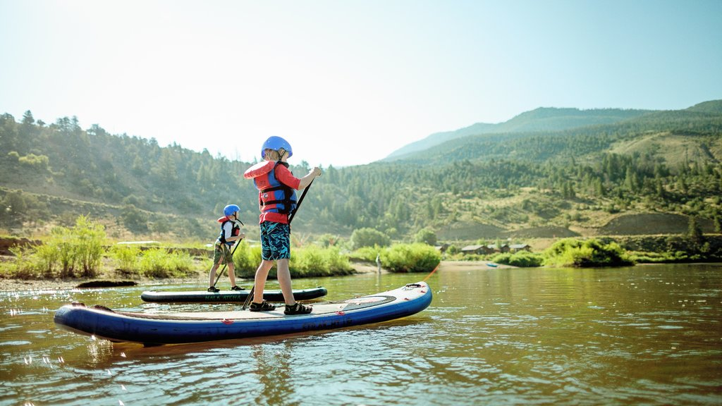 Beaver Creek featuring a river or creek and watersports as well as children