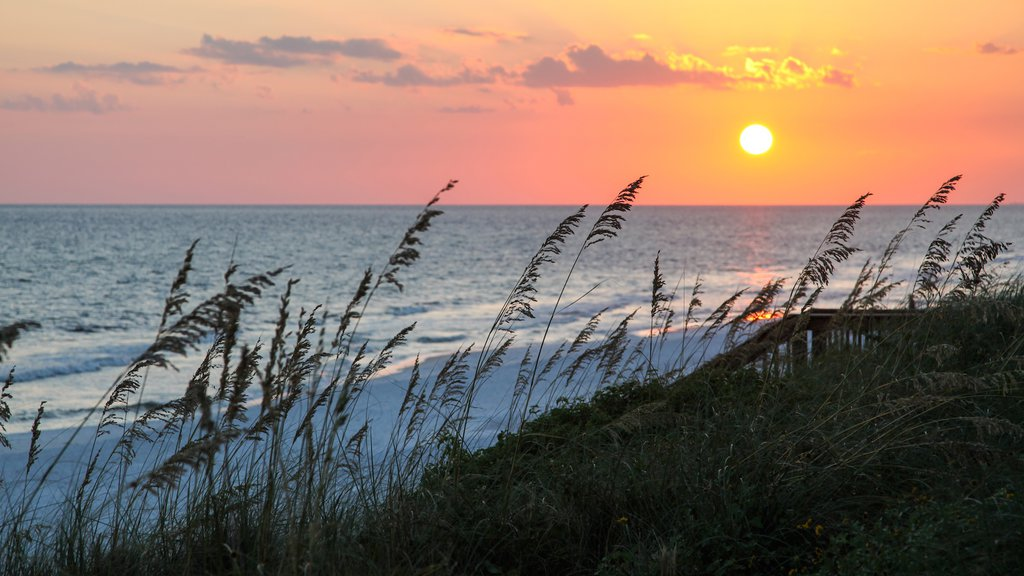 Santa Rosa Beach which includes a sunset, general coastal views and a sandy beach