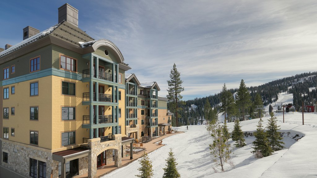 Northstar California Resort showing a hotel, snow and a luxury hotel or resort