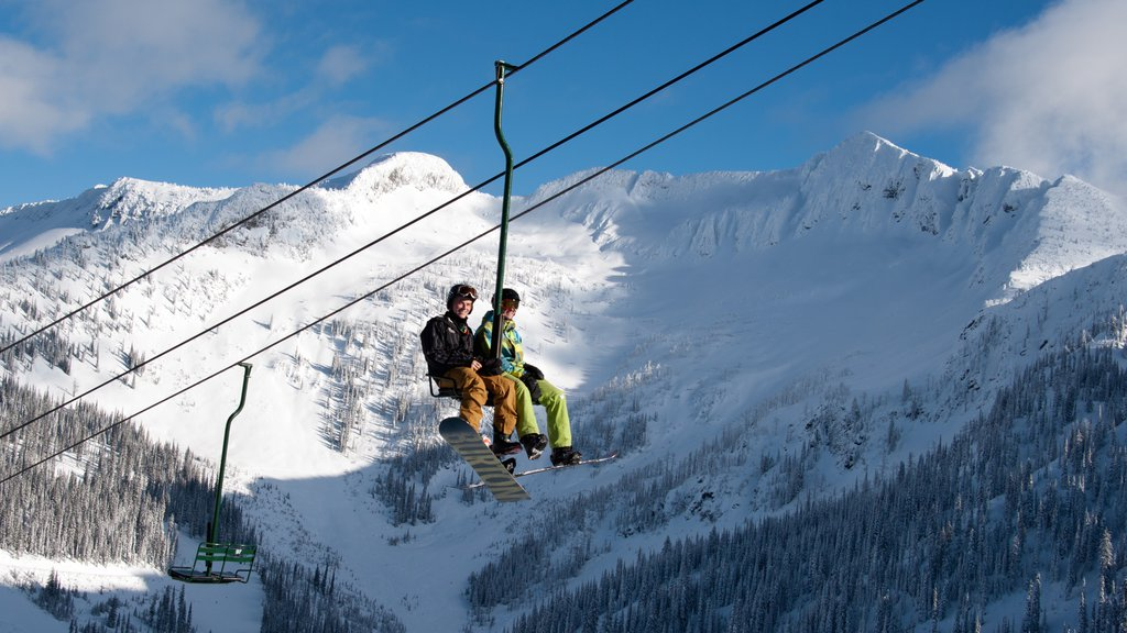 Whitewater Ski Resort which includes mountains, snow and snow boarding