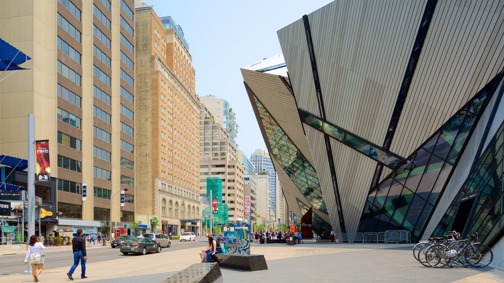 Yorkville which includes modern architecture, a city and street scenes