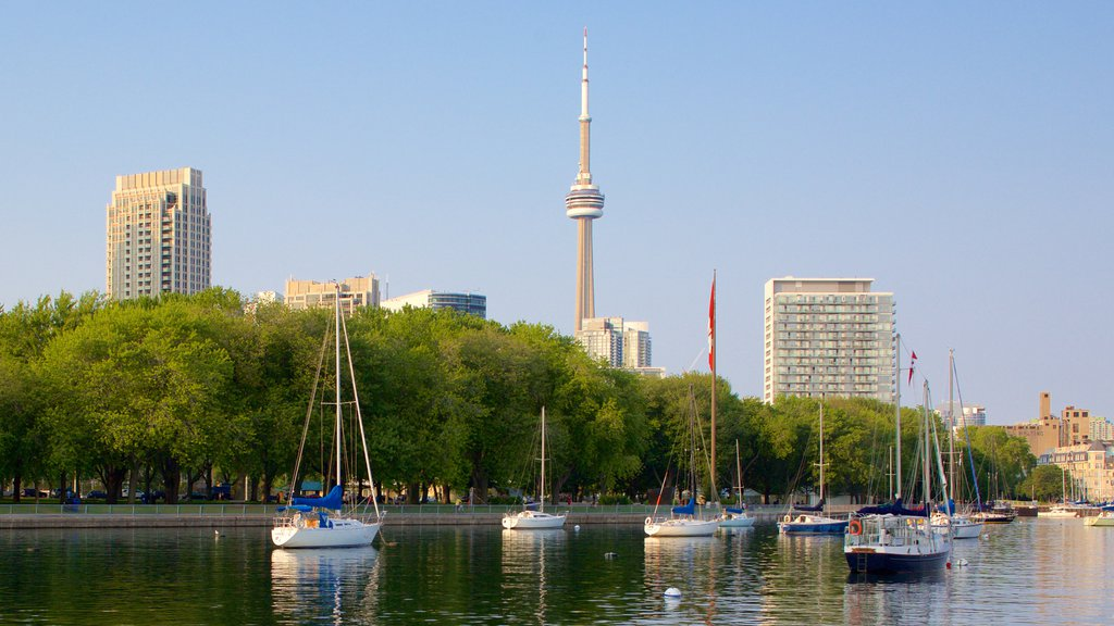 Harbourfront showing sailing, a river or creek and boating