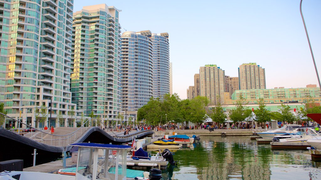 Harbourfront featuring a marina, a city and a bay or harbor
