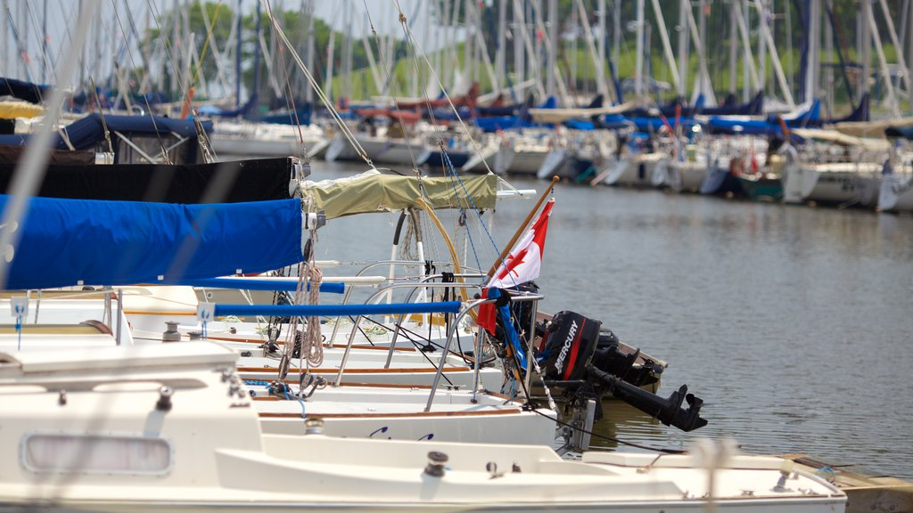 Oakville which includes boating, a marina and sailing