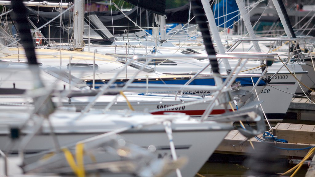 Oakville which includes sailing, a marina and boating