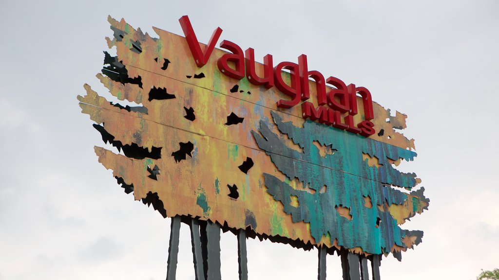 Vaughan Mills Mall featuring signage