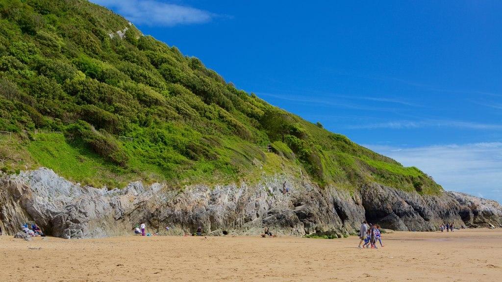 Caswell Bay Beach featuring a beach