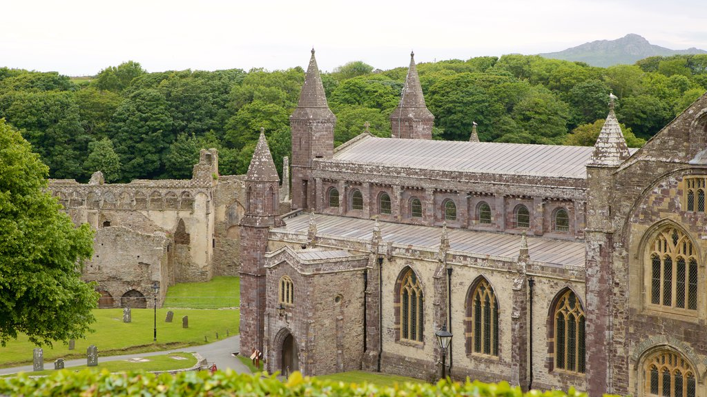 St Davids featuring heritage elements and a church or cathedral