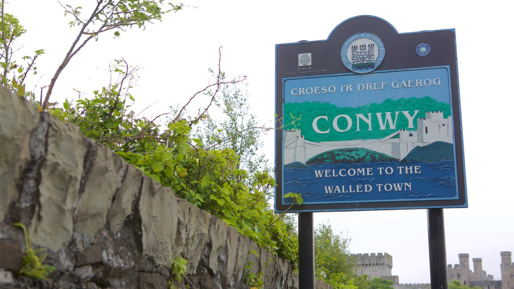 Conwy featuring signage