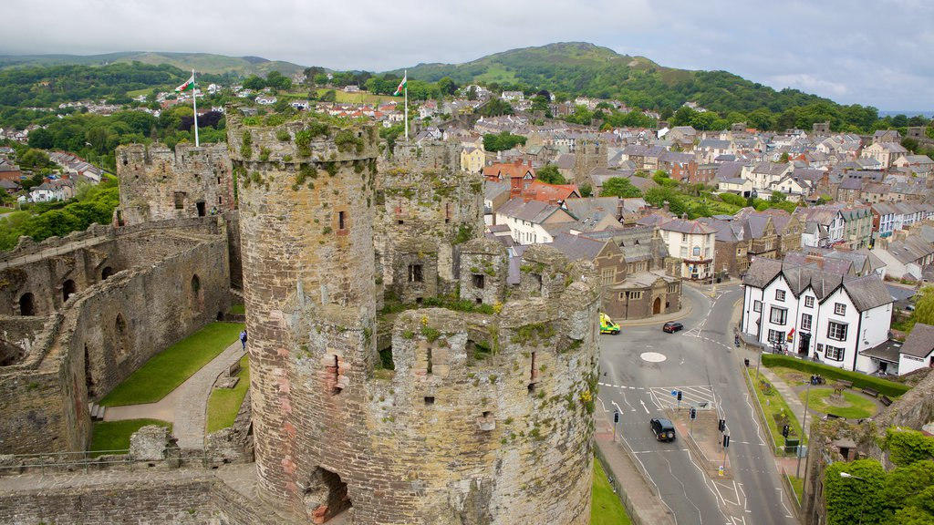 Conwy Castle which includes a castle, heritage elements and building ruins