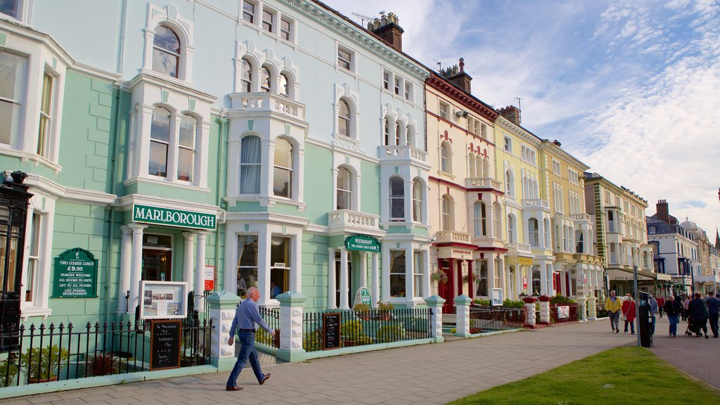Llandudno which includes street scenes and a house