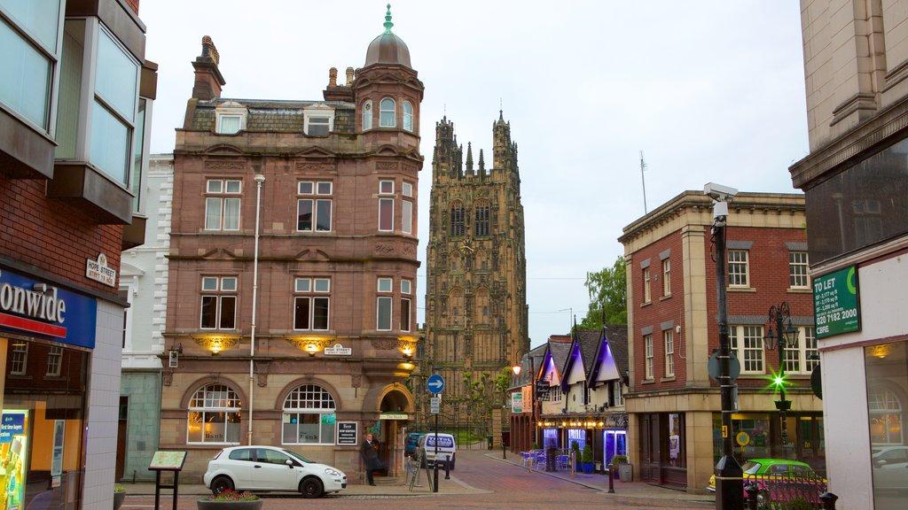 Wrexham showing street scenes