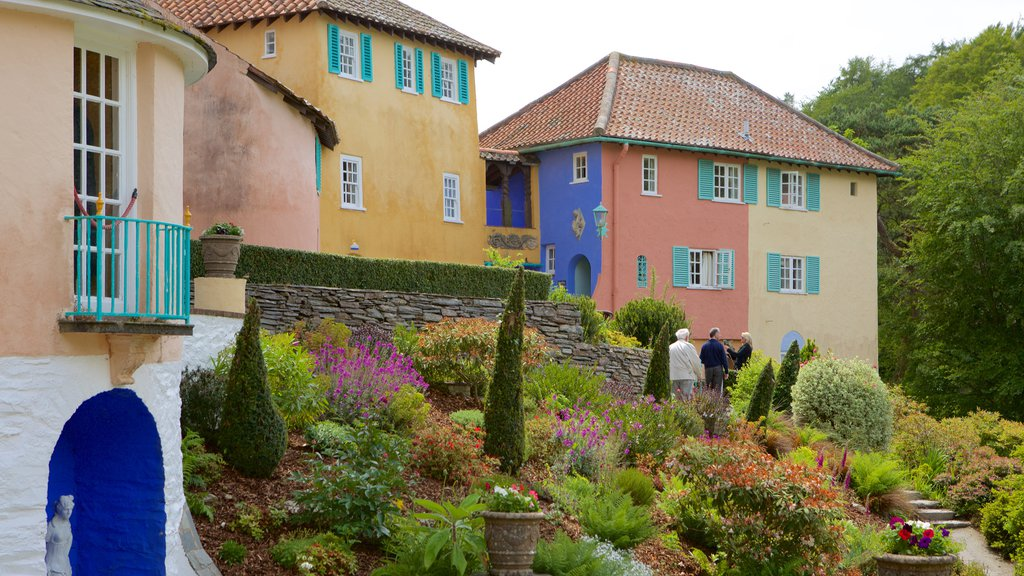 Portmeirion which includes a house and a small town or village