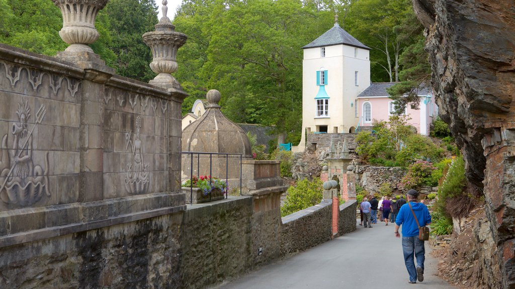 Portmeirion featuring a small town or village