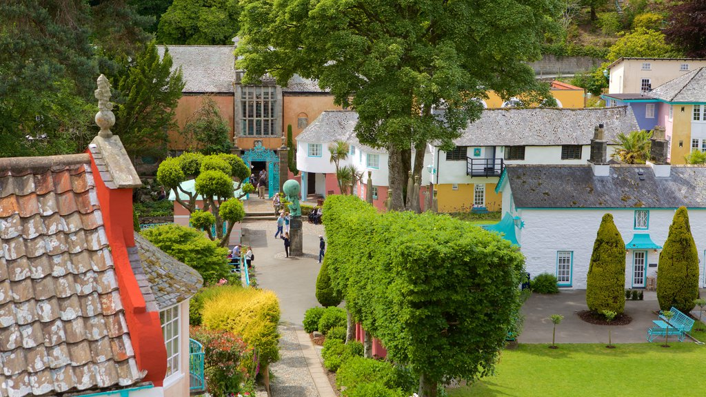 Portmeirion which includes a small town or village