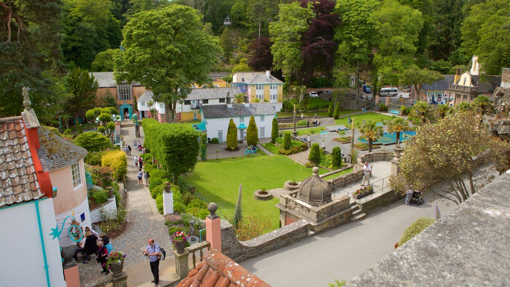 Portmeirion featuring a small town or village and landscape views