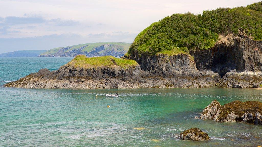 Pembrokeshire Coast National Park featuring rocky coastline