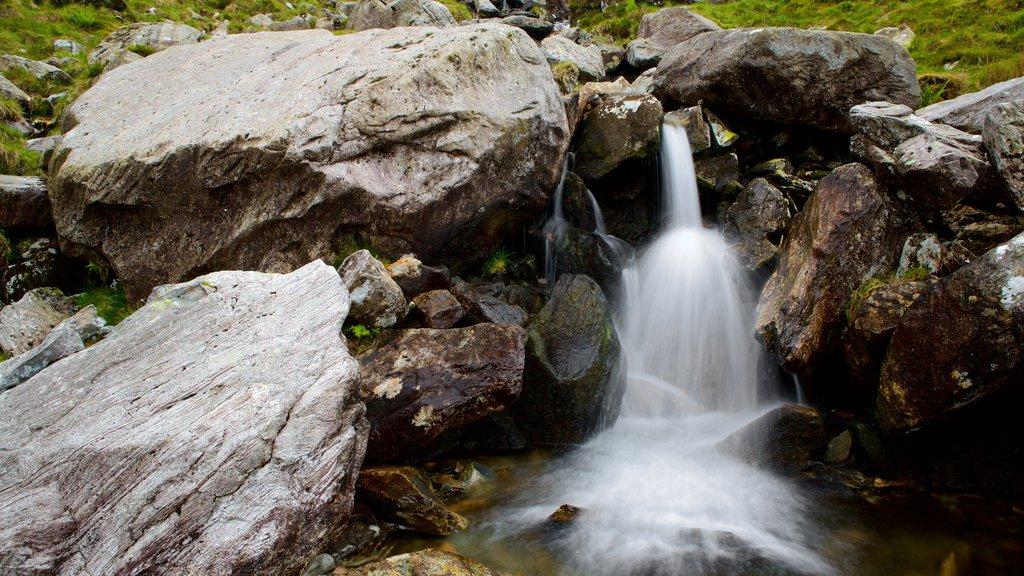 Parque Nacional de Snowdonia ofreciendo una cascada