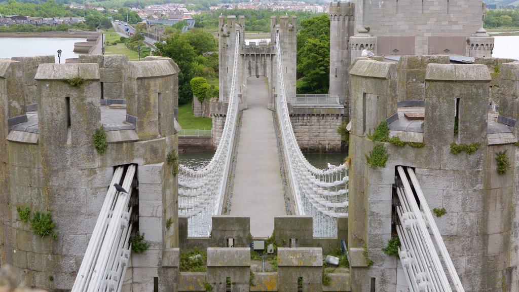 Conwy Castle featuring a bridge