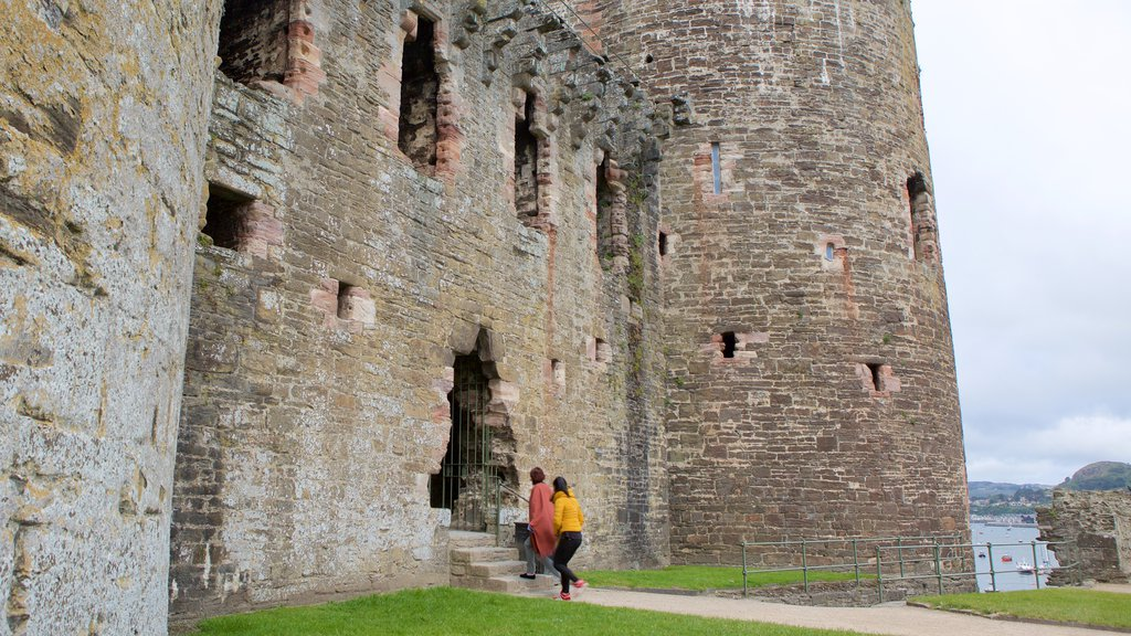 Conwy Castle which includes heritage elements and a castle
