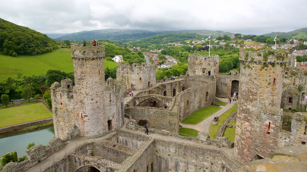 Conwy Castle showing a castle and heritage elements