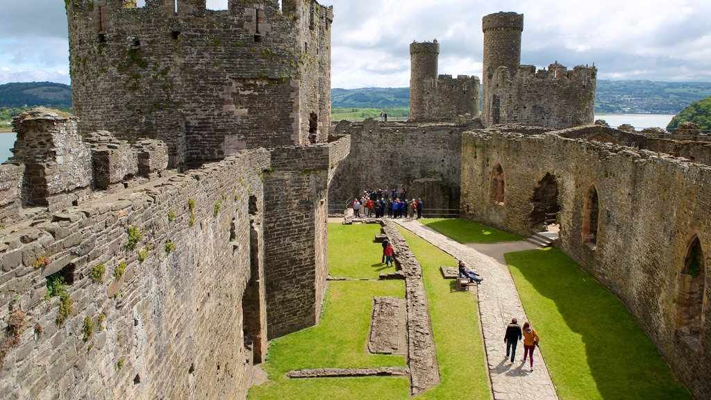 Conwy Castle featuring a castle, heritage elements and building ruins