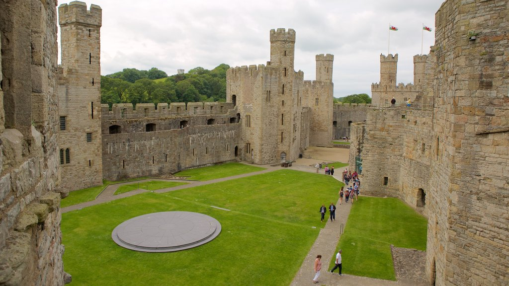 Caernarfon Castle featuring a castle and heritage elements