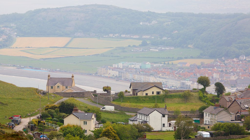 Great Orme featuring a small town or village and farmland
