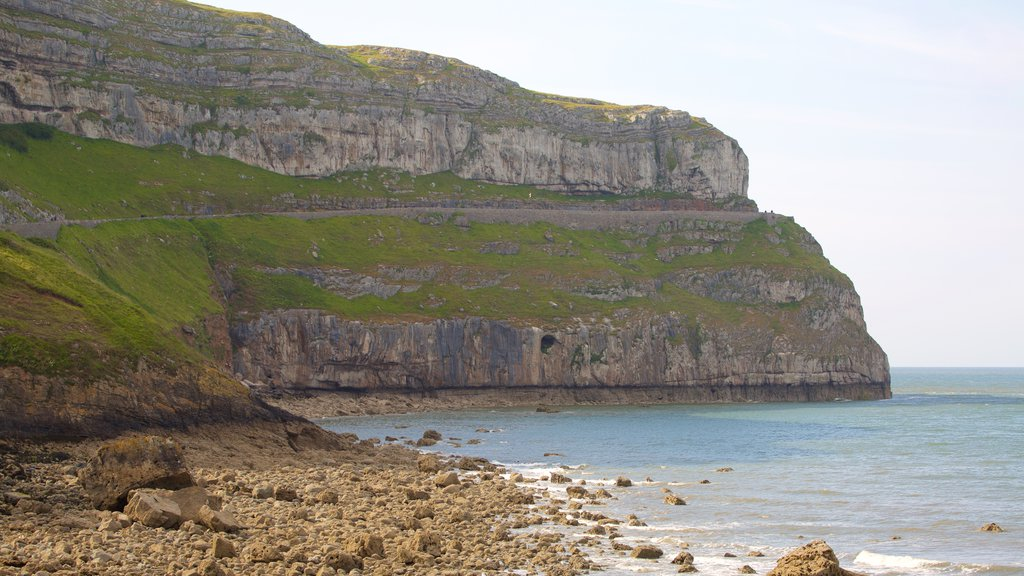 Great Orme featuring a pebble beach