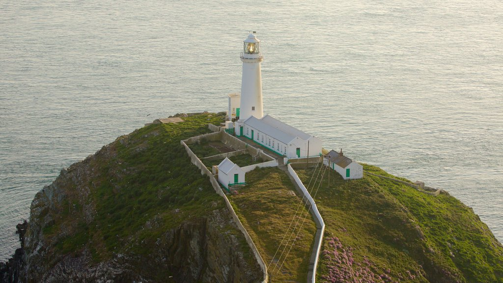 South Stack Lighthouse showing a lighthouse and general coastal views
