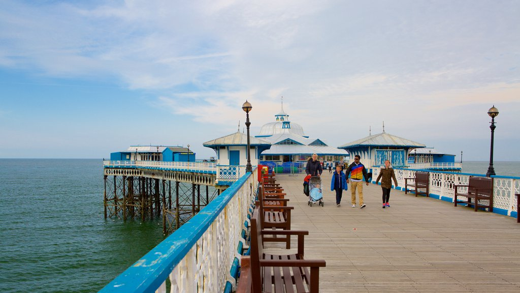 Llandudno Pier which includes general coastal views as well as a family
