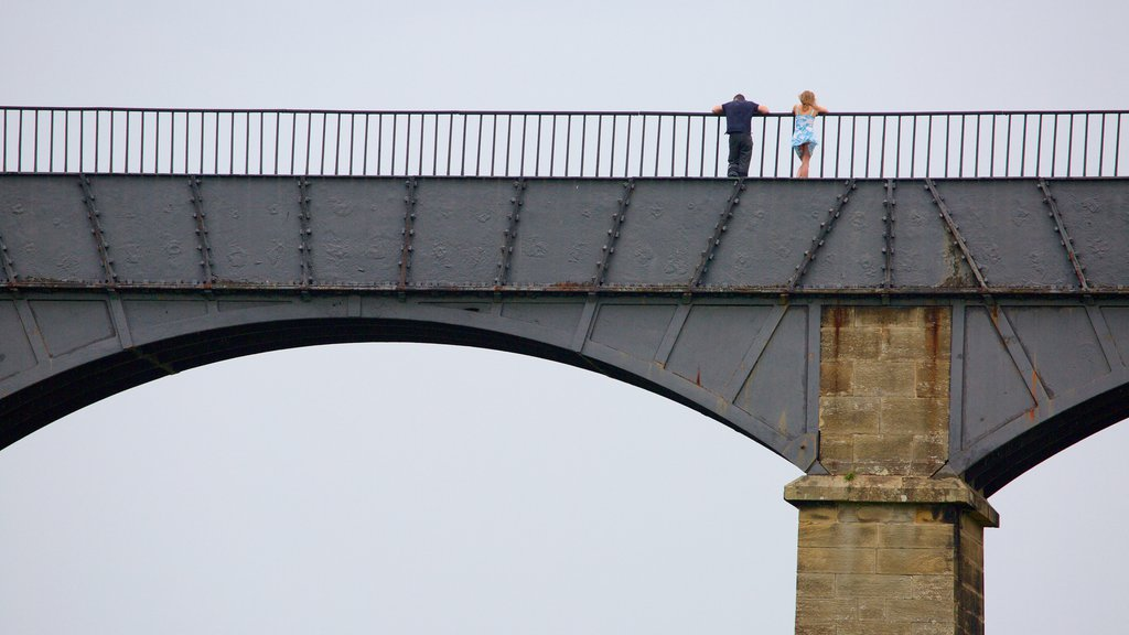 Pontcysyllte Aquaduct which includes a bridge as well as a couple