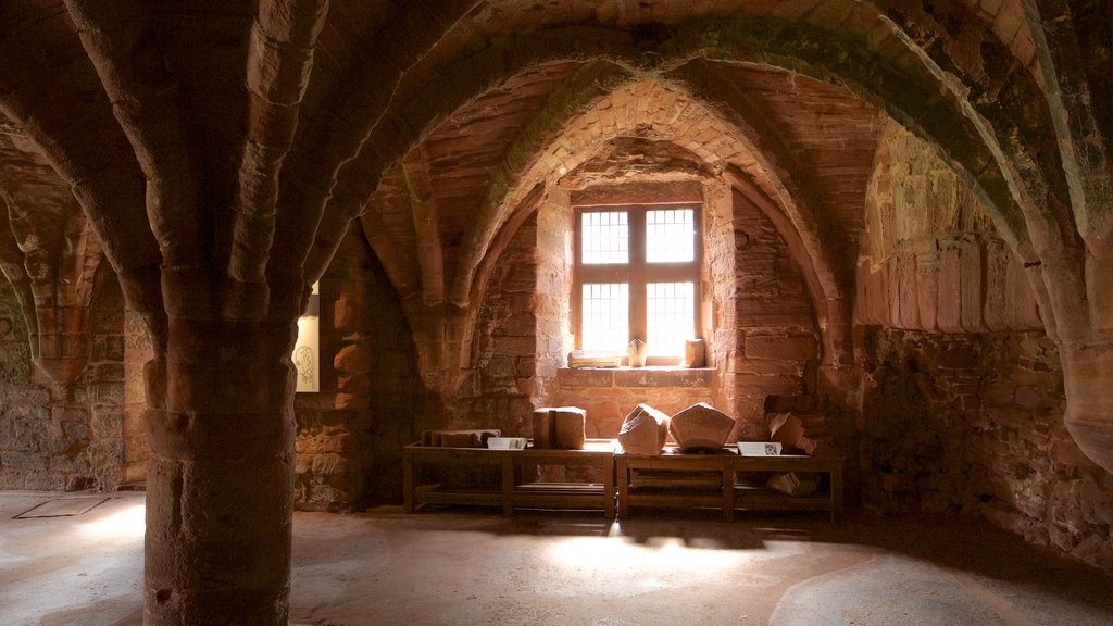 Arbroath Abbey featuring interior views, heritage elements and heritage architecture
