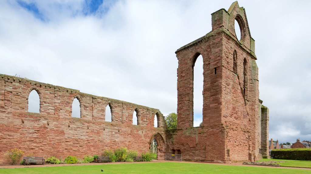 Arbroath Abbey which includes heritage elements and a ruin