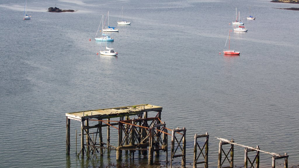 Aberdour showing sailing and general coastal views