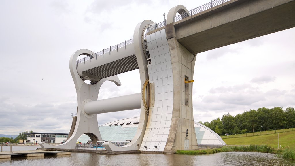 Falkirk Wheel featuring a river or creek