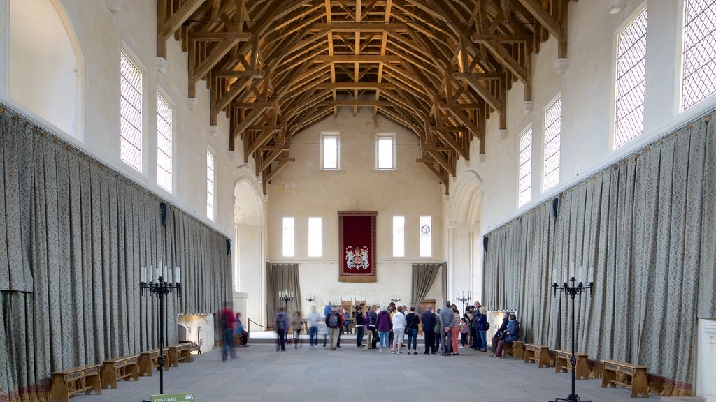 Stirling Castle which includes heritage elements and interior views