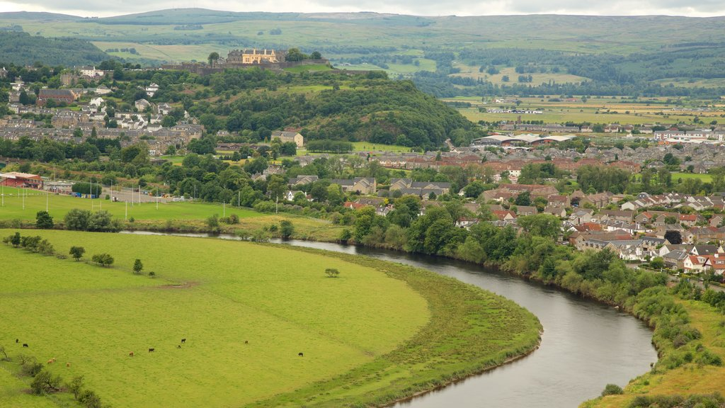 Stirling showing a river or creek, landscape views and a small town or village