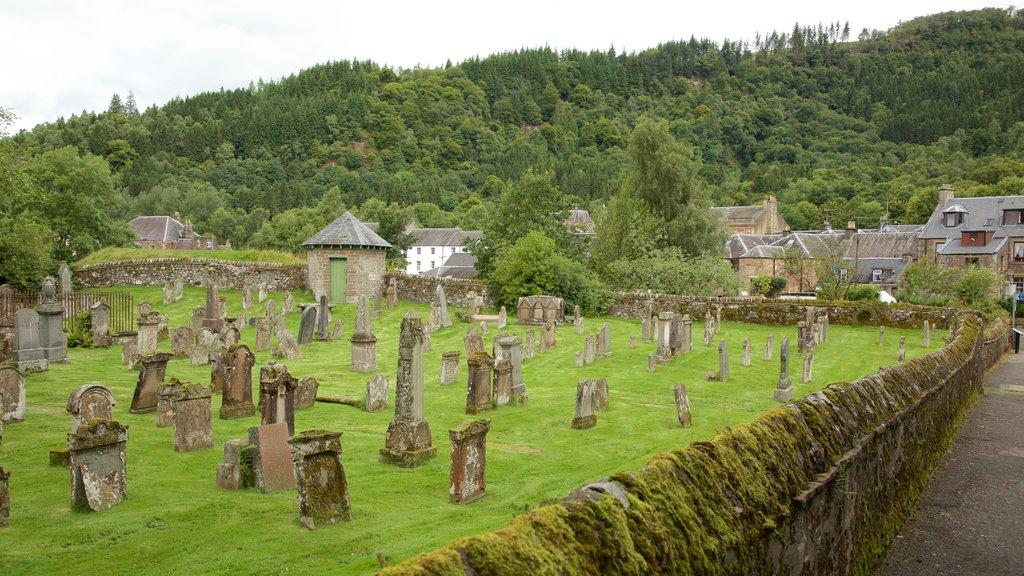 Callander which includes a cemetery