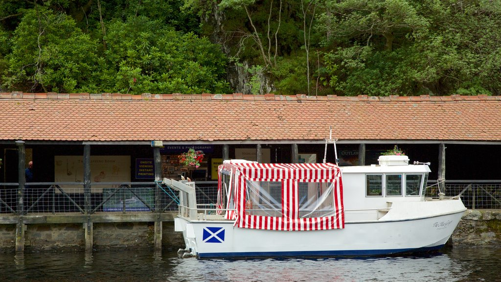 Loch Katrine which includes boating and a lake or waterhole