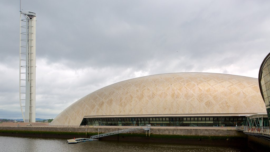 Glasgow Science Centre showing heritage architecture