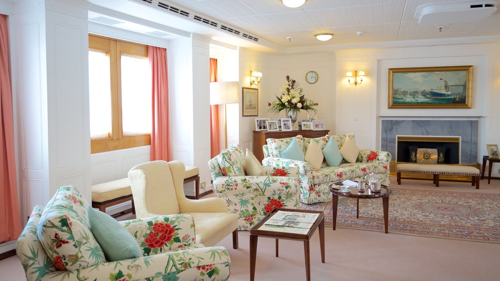 Royal Yacht Britannia featuring interior views, heritage elements and boating
