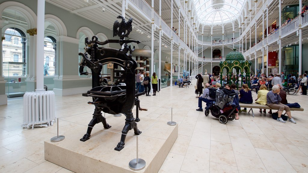 National Museum of Scotland which includes interior views as well as a large group of people