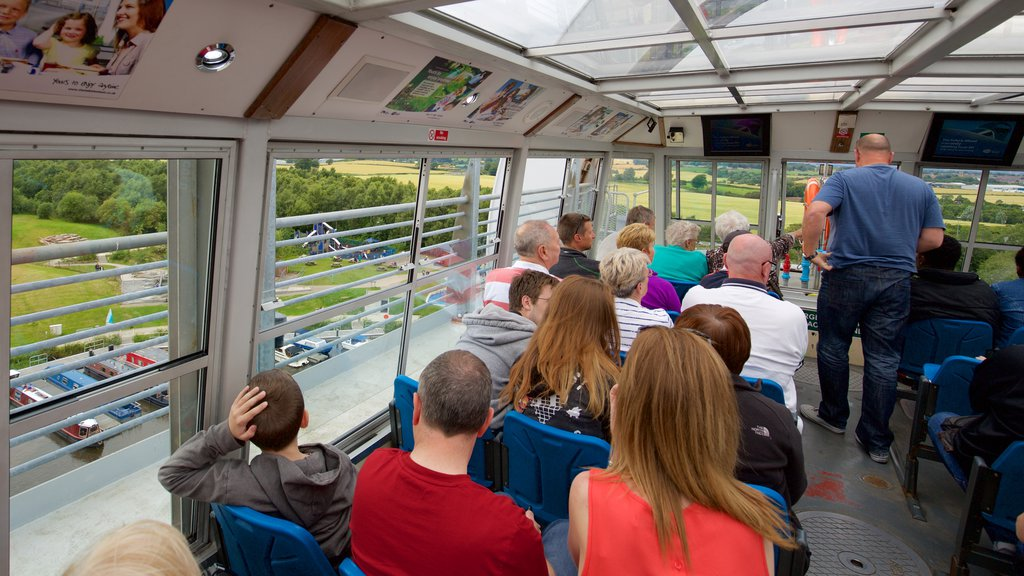Falkirk Wheel as well as a large group of people