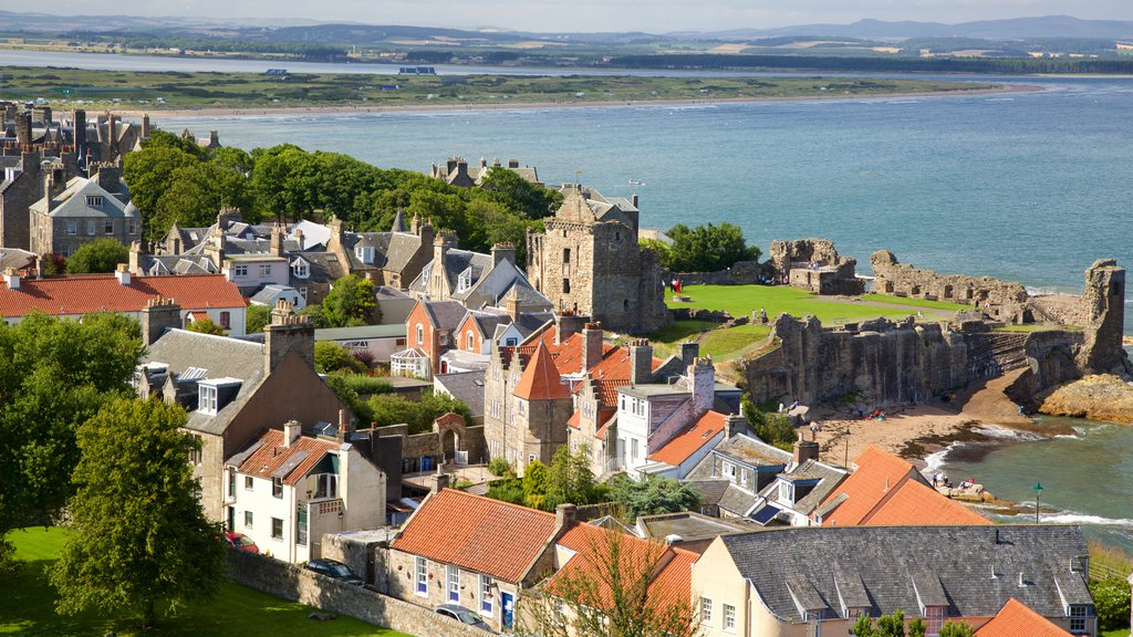 St. Andrew\'s Cathedral featuring landscape views, a small town or village and a coastal town