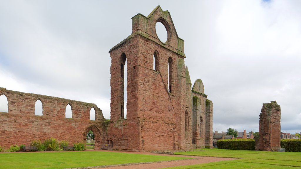 Arbroath Abbey which includes heritage elements
