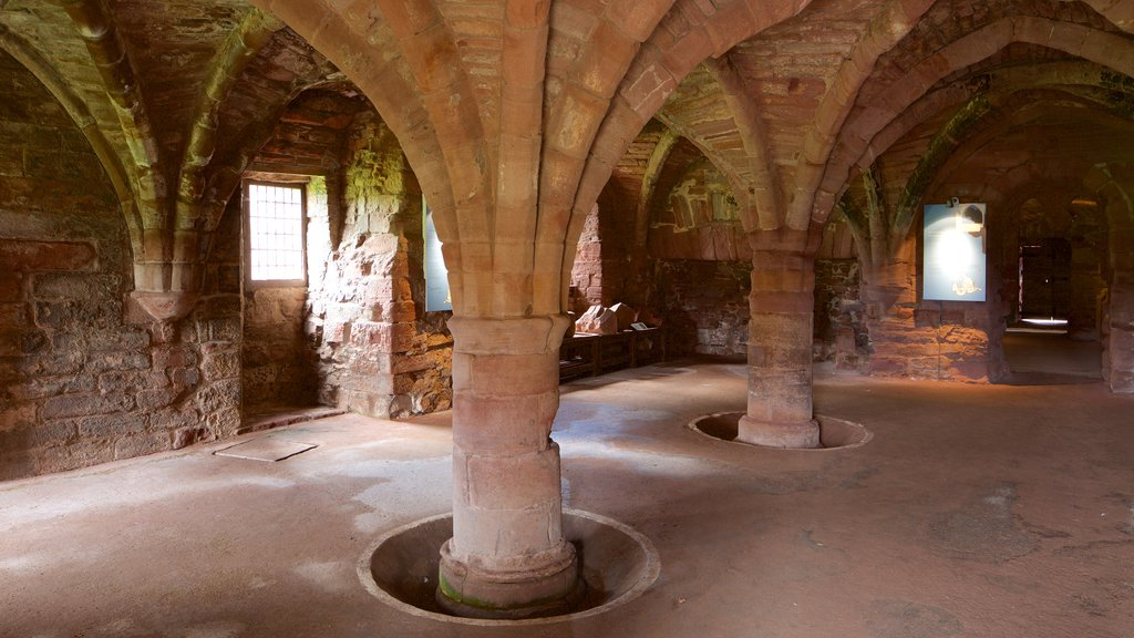 Arbroath Abbey featuring heritage architecture, interior views and heritage elements