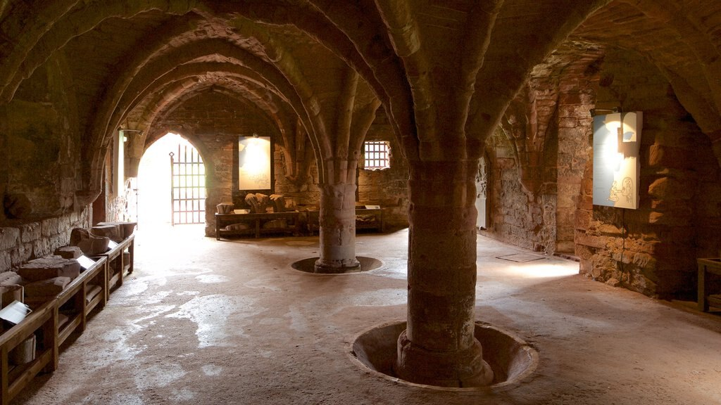 Arbroath Abbey showing heritage elements, heritage architecture and interior views